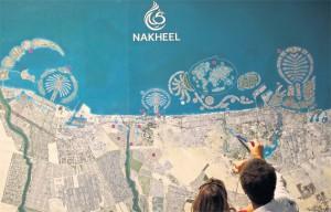 The Dubai project map of Nakheel Properties, taken from Emirates247 Newspaper