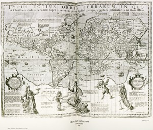 Hondius' Map, c. 1596, today at the British Museum