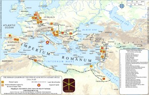 Figure 1: Roman legions c. 14 1D
