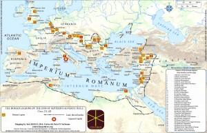 Figure 1: Roman legions c. 211 AD