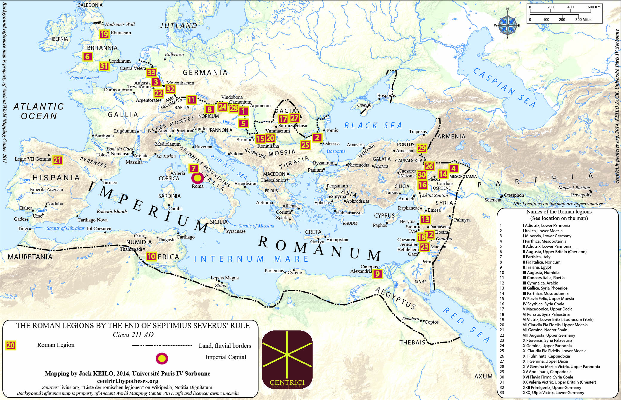 Mapping Roman Legions How Limits Tell About The Centre Army Bases In Usa Map