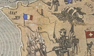 FIGURE 2: A zooming on the map showing France and Paris, represented by a stele or a column