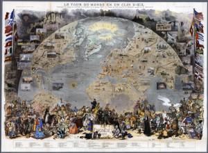 FIGURE 1: Le tour du monde en un clin d'œil of Le Monde Illustré
