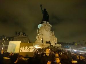 La marche du soutien à CharlieHebdo, 7 janvier 2015 à 18h30