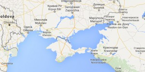 FIGURE 2. The Map of the Crimea in Google Maps Russia. Crimea is a part of Russia in this representation.