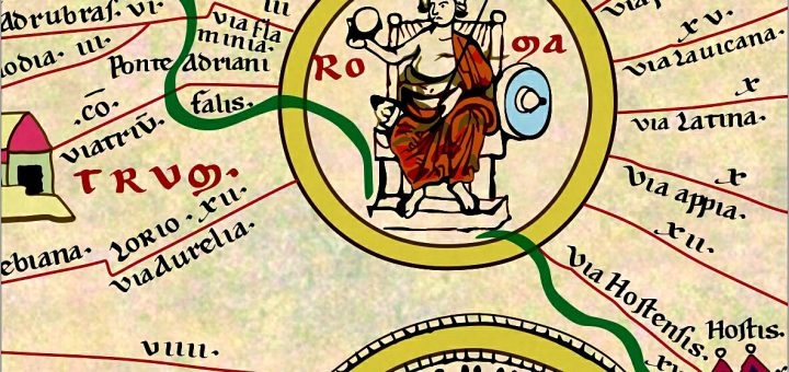 Peutinger Map All Roads Lead To Rome And To Caesar Centres - Rome map cartoon