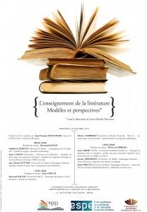 L'enseignement de la littérature : modèles et perspectives