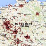 Punktewolke - Verteilung der gefundenen Nachkriegskinder (12-2014)