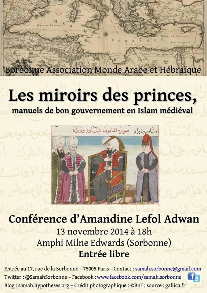 Conf rence amandine lefol adwan les miroirs des for Miroir des princes