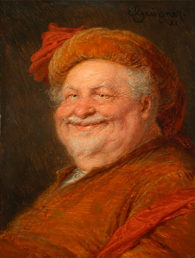 Eduard von Grützner's 1921 painting of Falstaff
