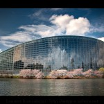 Parlement Européen de Strasbourg au Printemps