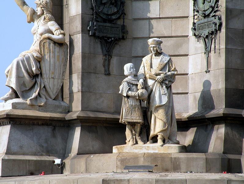 Monumento a Cristóvão Colombo em Barcelona. Wikipedia, (CC BY-SA 3.0 ES).