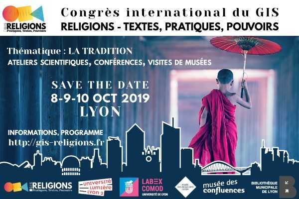 Affiche du congrès international du GIS Religions 2019