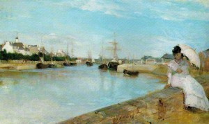 Berthe-Morisot-Marine-The-Harbor-at-Lorient-