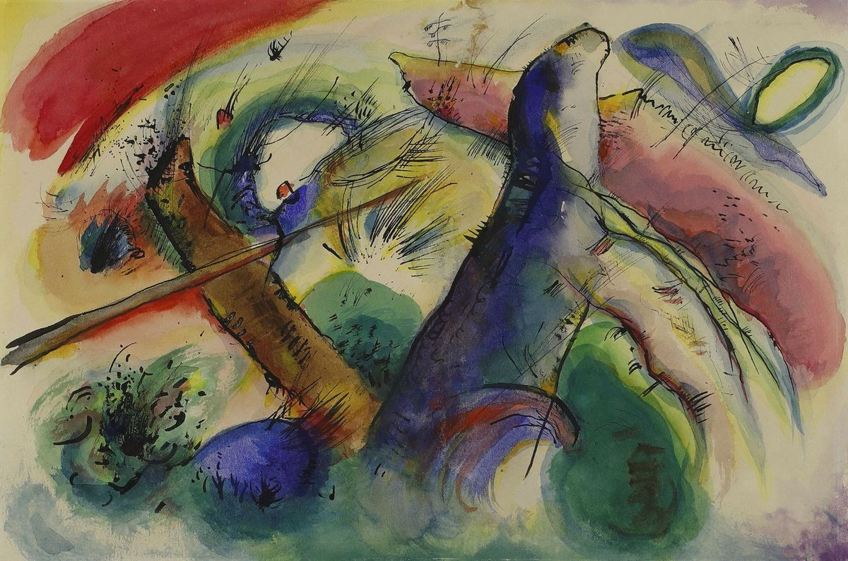 Aquarell print in high resolution by wassily kandinsky