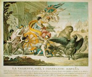 Alegoría del triunfo de España y Fernando VII sobre Napoleón