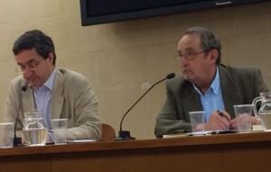 """Juan Pro expone su ponencia en el curso """"Siento, luego existo..."""", presentado por el Presidente de la Institución Fernando el Católico, Carlos Forcadell (23/05/2014)"""