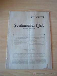 """Ramón Pérez de Ayala: """"Sentimental Club"""" (1909)"""