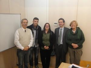 Las tesis doctorales. Tribunal de tesis de Evangelina de los Ríos, Universitat Pompeu Fabra, Barcelona, Noviembre 2013