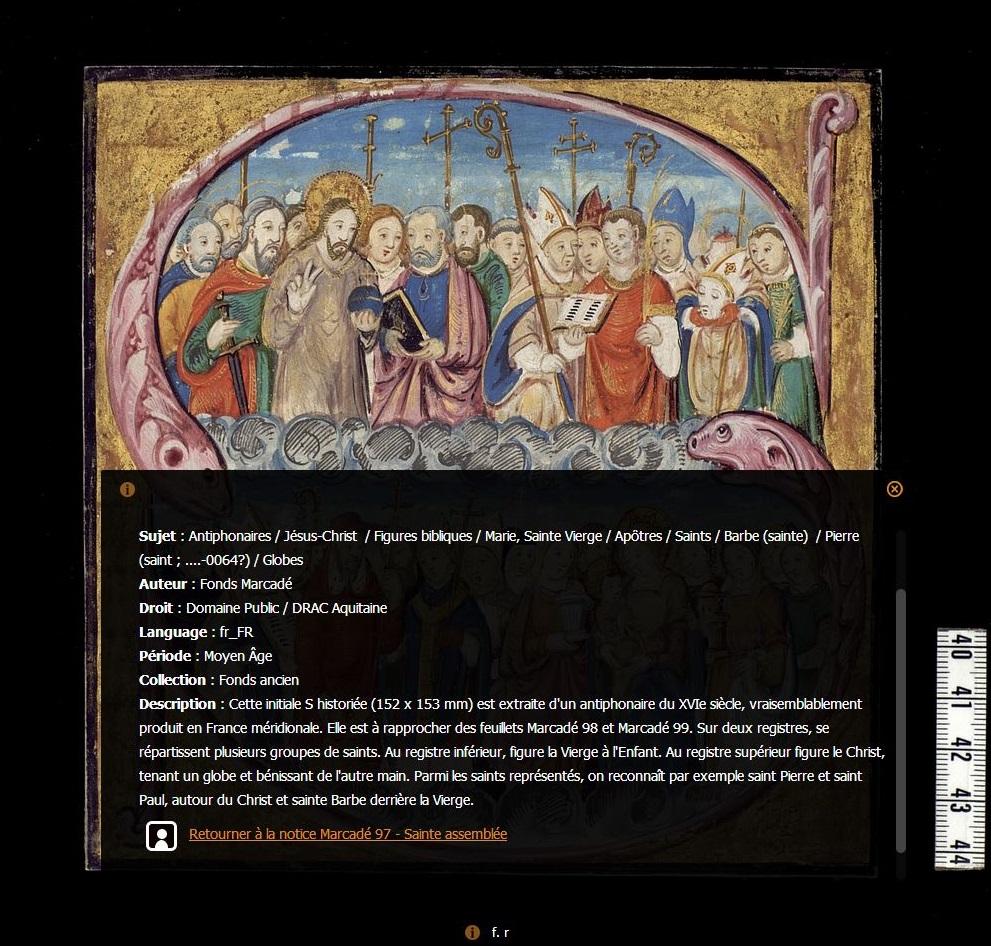 Manuscrits_médiévaux d'Aquitaine_Marcadé