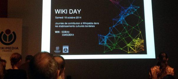 Wiki-Day à Bordeaux, présentation au musée d'Aquitaine, le 18 octobre 2014. Credit: Benoît Prieur (Agamitsudo) - CC-BY-SA.