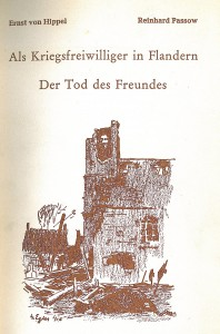 Pages from Hippel, E. v., Passow, R. - Als Kriegsfreiwilliger in Flandern- Cover