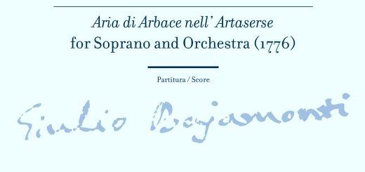 Bajamonti_Aria di Arbace nell' Artaserse za sopran i orkestar (1776)