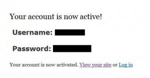 Accountaktivierung