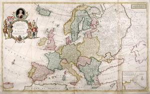 Carte de l'Europe, Herman Moll, 1708.