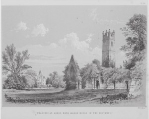 """Franciscan Abbey with Manor House in the Distance"", Plate 20, Memorials of Adare Manor."