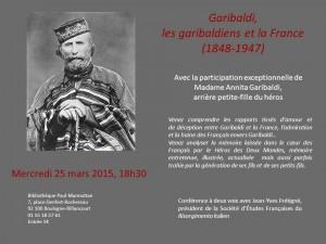 Garibaldi et les garibaldiens