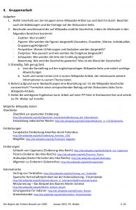 M3: Aufgabenblatt zur Kritik an Wikipedia