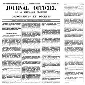 Exposé des motifs de l'ordonnance de 1945
