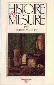 Histoire & Mesure 1989-4
