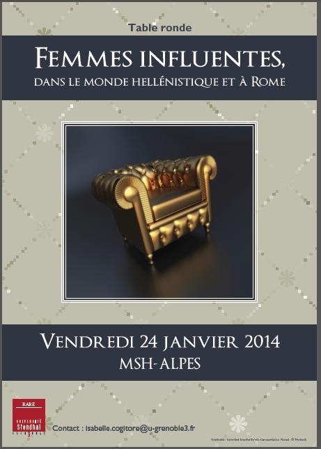 Upcoming Conference Table Ronde Femmes Influentes Dans Le Monde Hell Nistique Et Rome