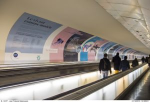 FRESQUE CNRS RATP; COULOIR CORRESPONDANCE