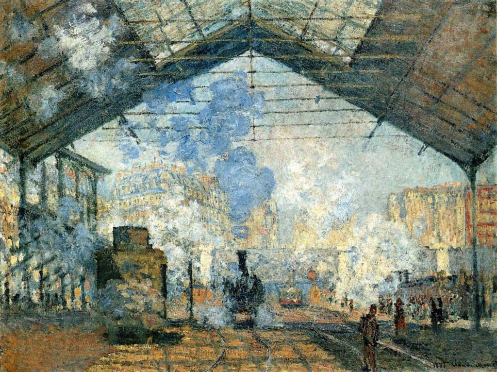 La gare Saint-Lazare par Claude Monet, musée d'Orsay