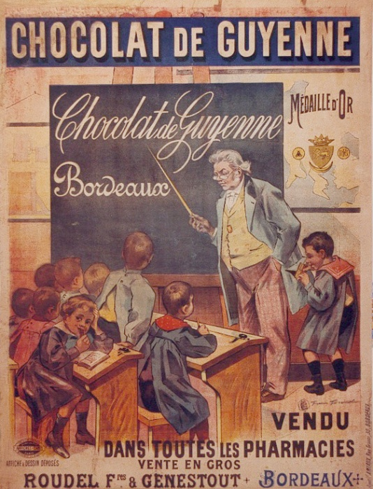 1906 chocolat de guyenne vendu dans toutes les pharmacies publicit la lucarne. Black Bedroom Furniture Sets. Home Design Ideas