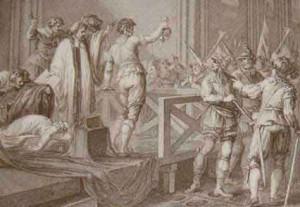 John Francis Rigaud. Execution de Marie Stuart, Reine d'Ecosse, en sept estampes. [London?, 1791]. RB.m.520