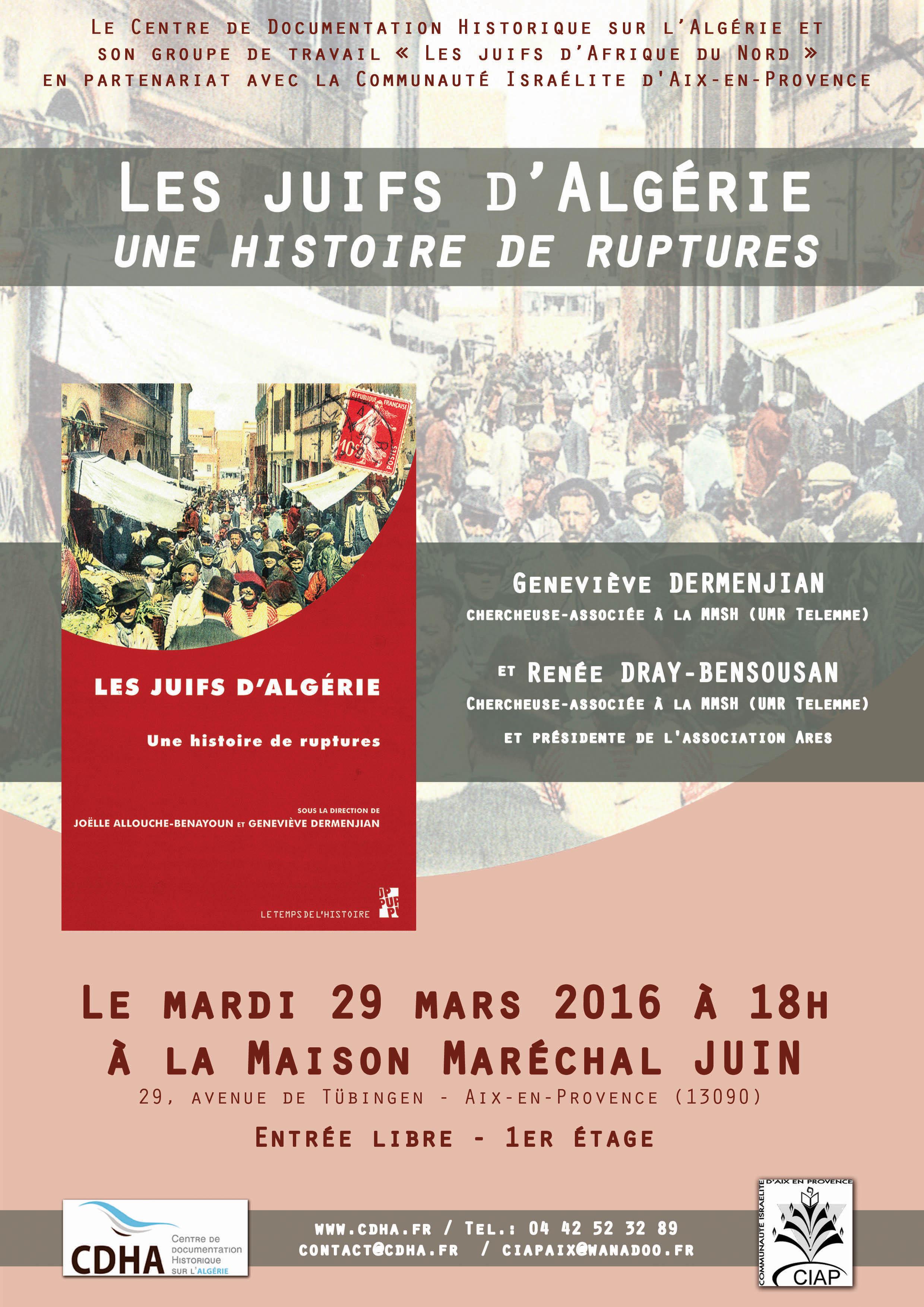 Conf_Juifs_Algérie_Histoire_Ruptures