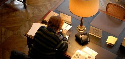 Bibliothèque nationale de France, prise de vue individuelle dans la salle du département des Monnaies, médailles et antiques - © Magali Corouge/BnF