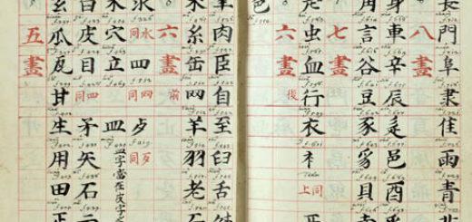 Firenze, Biblioteca Medicea Laurenziana; manoscritto Rinuccini 22, autografo di Basilio Brollo contenente il suo primo vocabolario cinese - latino, composto a Nanchino dal 1692 al 1694. L'immagine (carte 8 v. e 9 r.) riporta una sezione dell'indice.