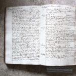 Kopierbuch der Firma Christian Gotthelf Brückner, 1814 (s. Vor), aufgeschlagen (Mus. Burg Mylau).
