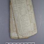 Course in Sächs. Wechsel Zahlung (Kurszettel) 1806, ausgestellt von C.G. Zschaler (Mus. Burg Mylau).