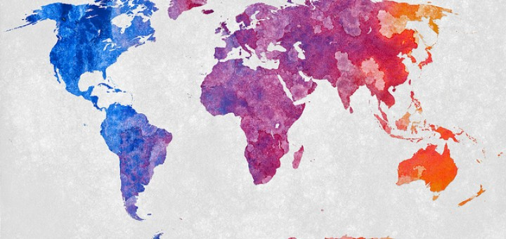 World Map - Abstract Acrylic (photo: Nicolas Raymond under (CC BY 2.0)