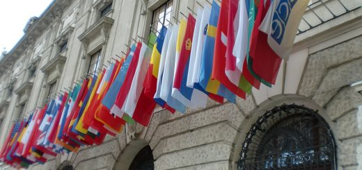 Photo taken in front of OSCE headquater in Vienna/Austria, one of the most prominent international organizations in international peacebuilding. 2011. Photo: Anita Janassary.