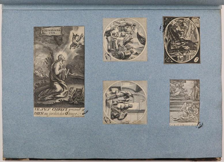 Page d'un recueil factice d'estampes (contient des documents du XVIe au XIXe siècle)