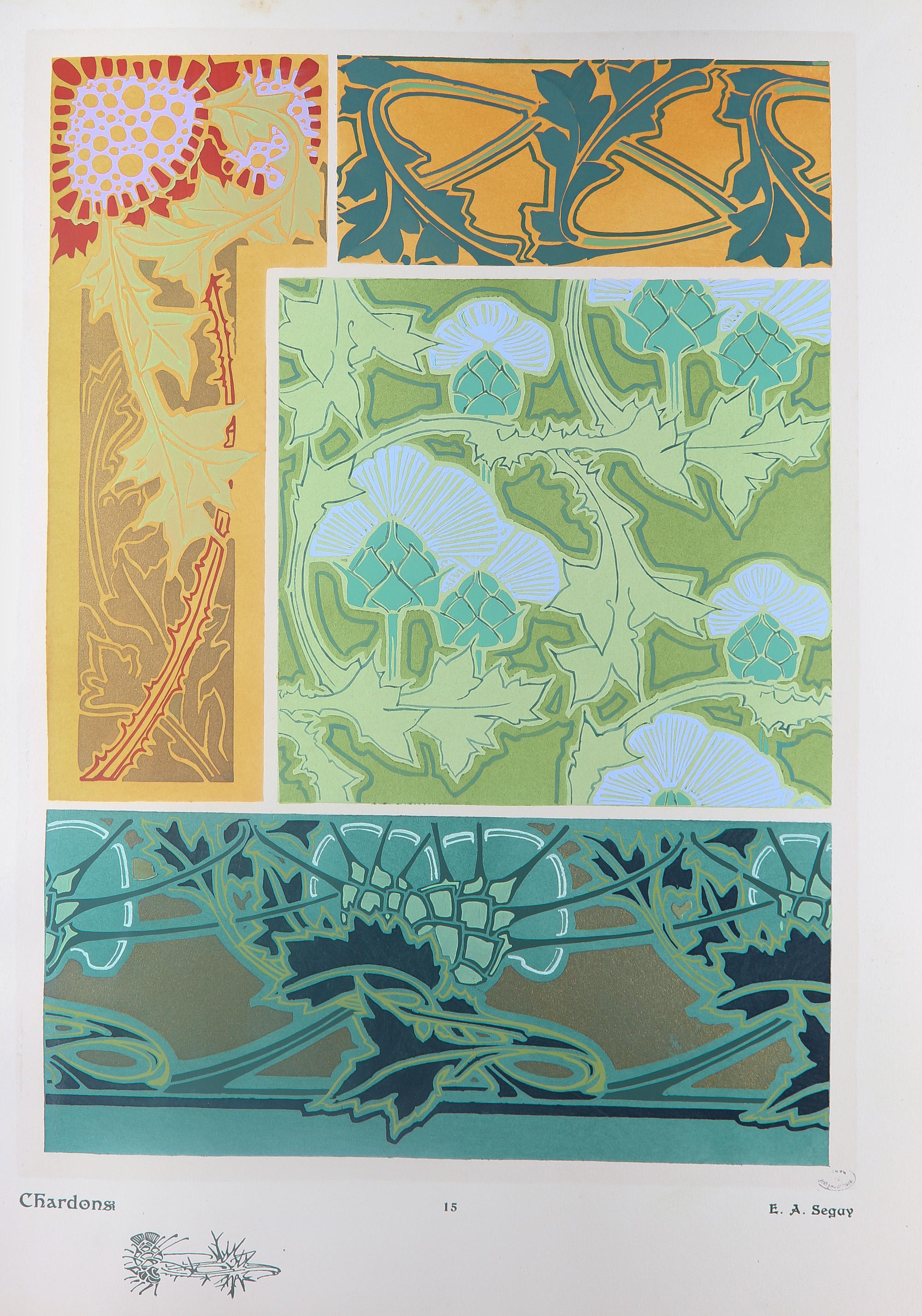 Revues et albums d coratifs pour les arts industriels la for Les plantes decoratives