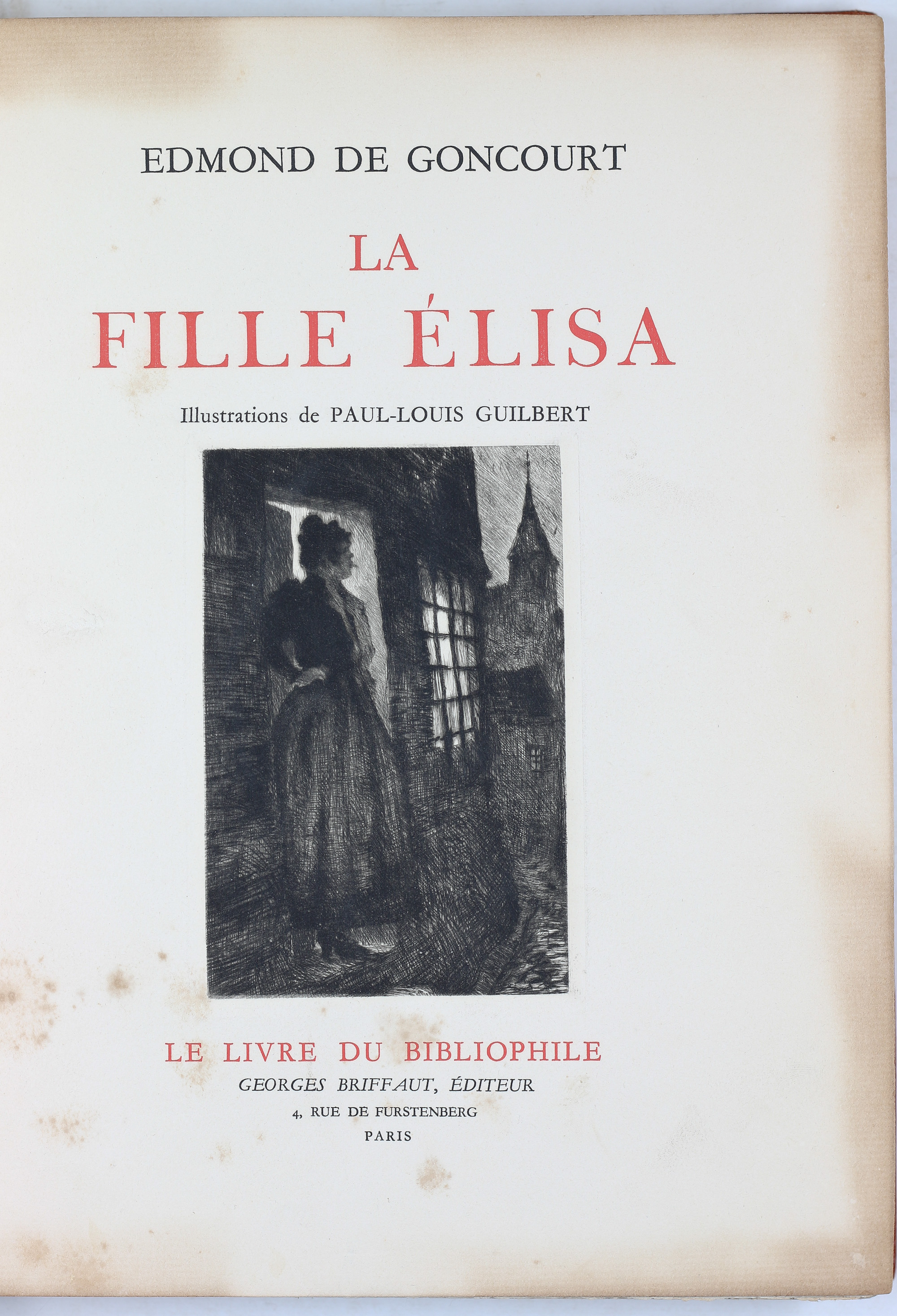 La fille Élisa, Edmmond de Goncourt, illustration de Paul-Louis Guilbert