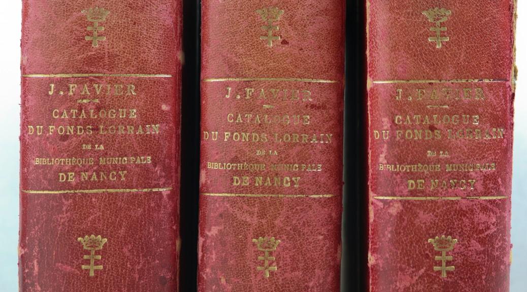 Les trois volumes du catalogue Favier